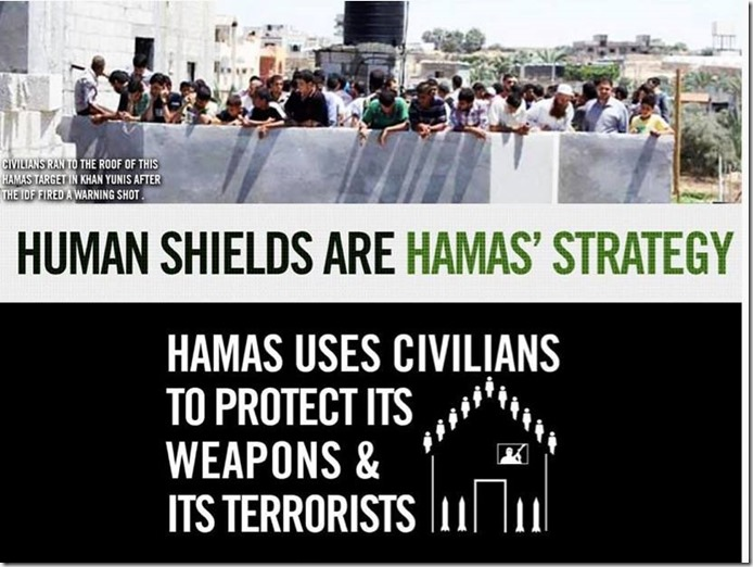 human shields knock on roof missile