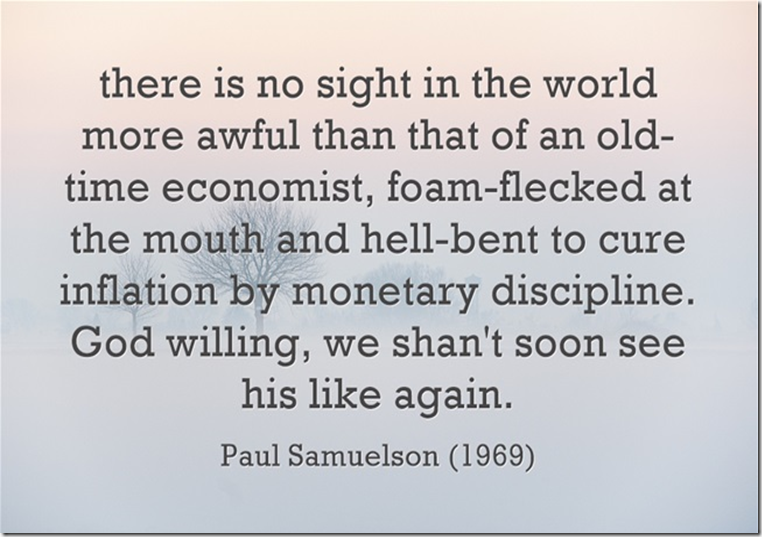 Paul Samuelson on inflation targeting