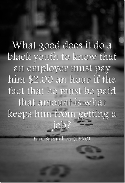 Paul Samuelson on the minimum wage