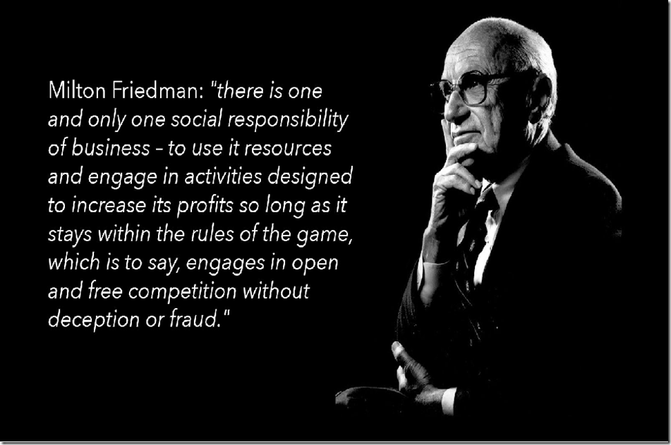 Milton Friedman, social responsibility of business