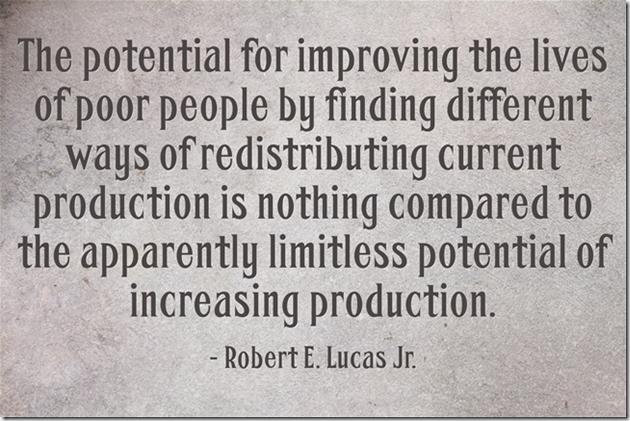 Robert Lucas limitless potential of increasing production