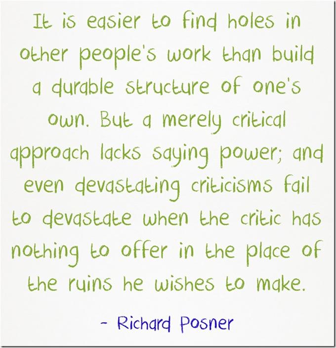Richard Posner easier to poke holes