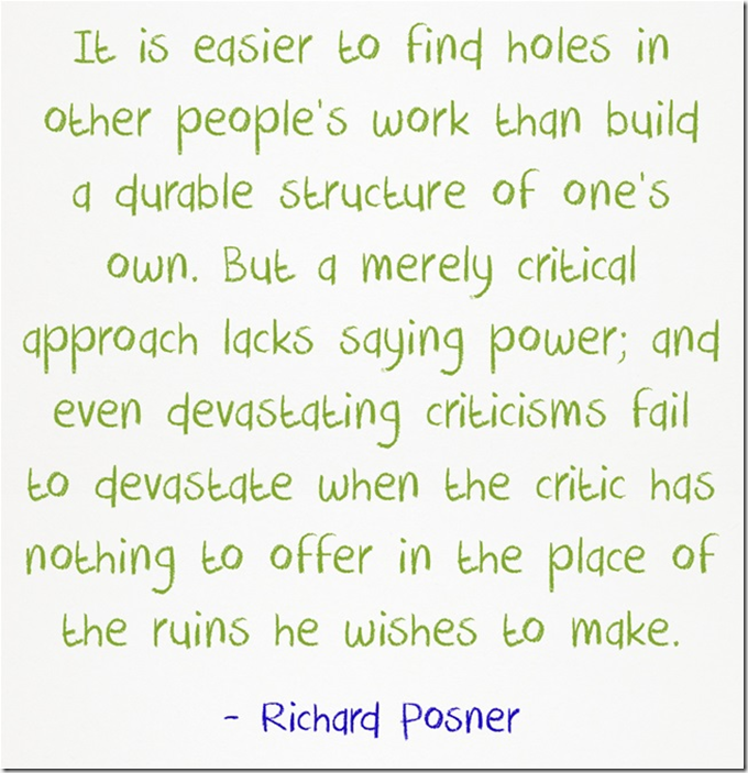 Richard Posner easier to poke holes
