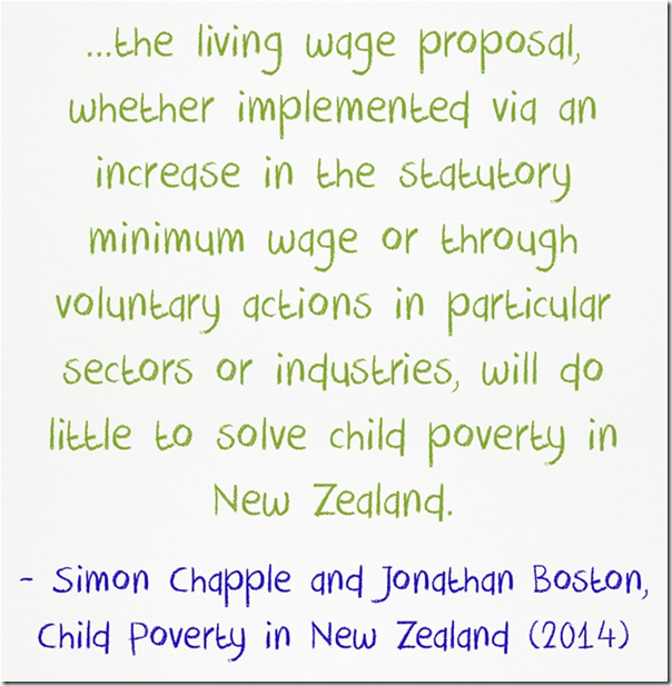 Simon Chapple Jonathan Boston living wage child poverty