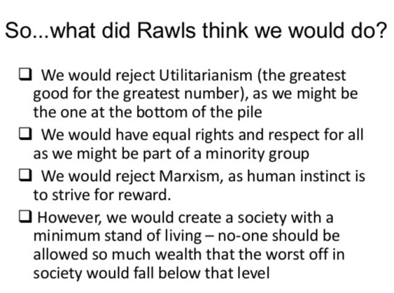 moral responsibility and the veil of ignorance according to john rawls