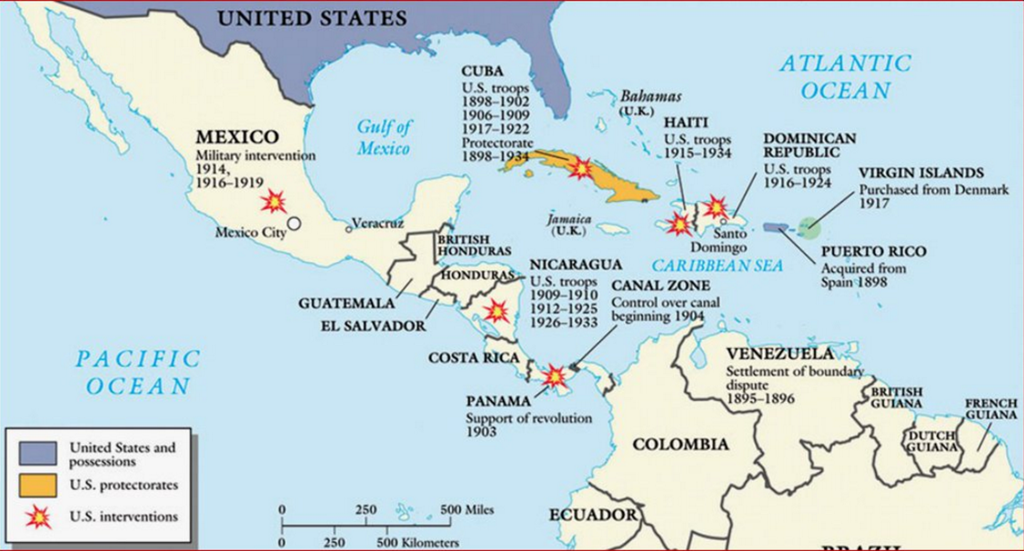 US Military Interventions in America the Caribbean Utopia you