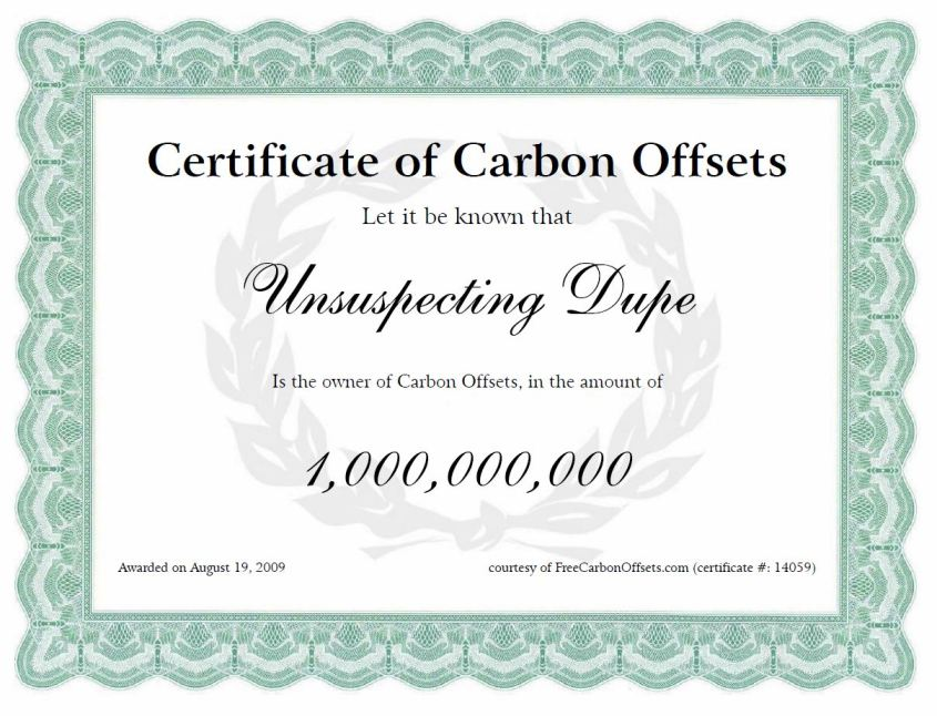carboncreditcertificate