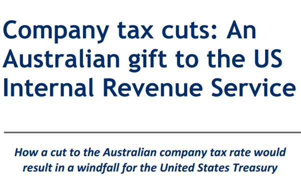 company tax rate – Utopia – you are standing in it!