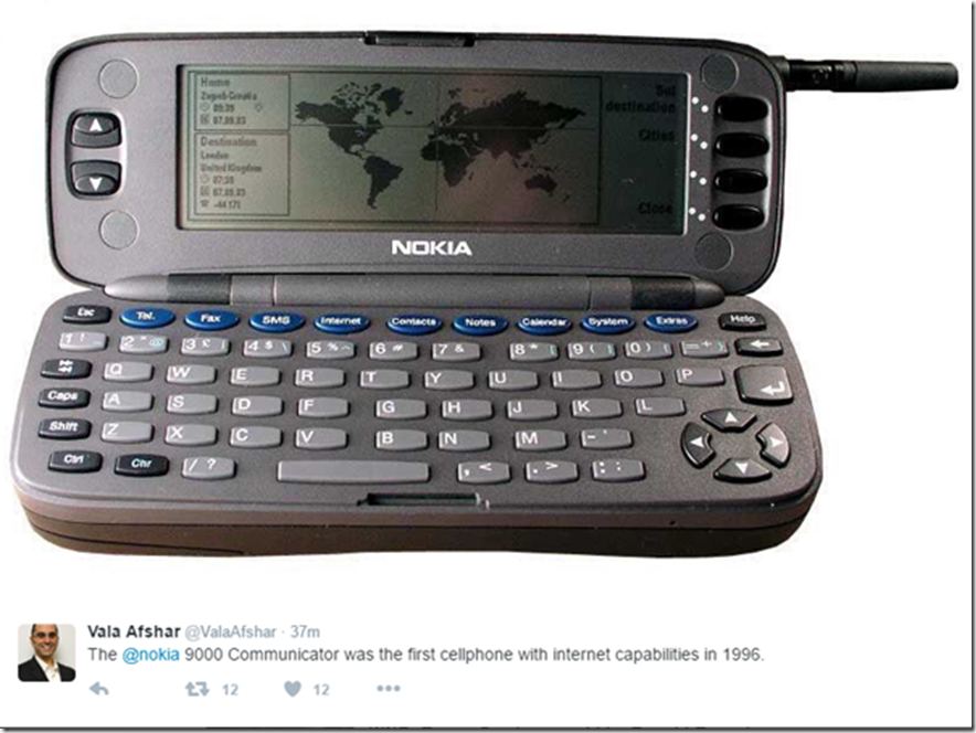 1st cellphone with internet capabilities in 1996