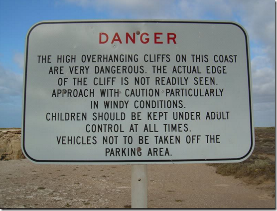 It's easier just to tell people to stay away from the CliffEdge