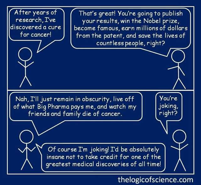 On cancer cure conspiracytheories