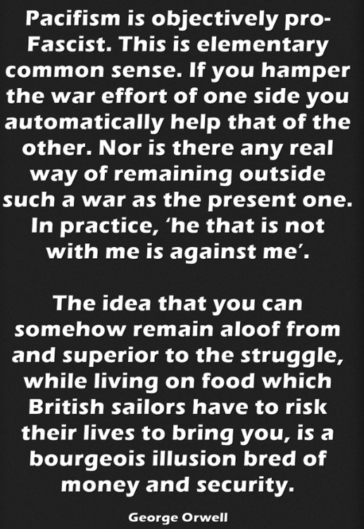 George Orwell on #Corbyn andpacifism