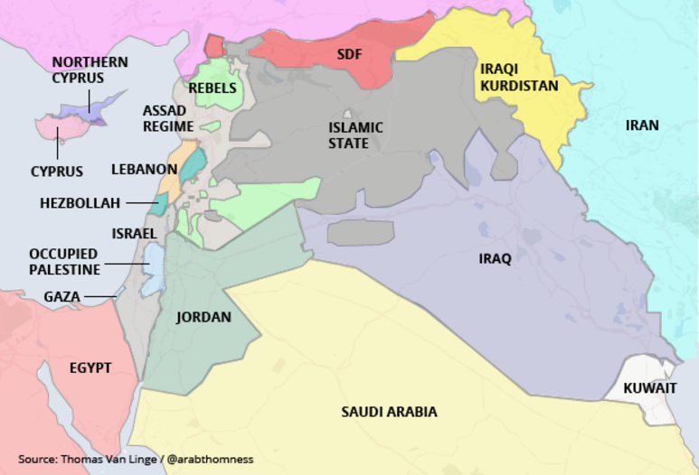 A Real Map of the MiddleEast