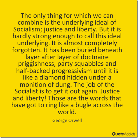 #GeorgeOrwell on the #Corbyn left? #ToriesforCorbyn