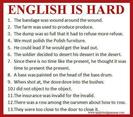 English is hard