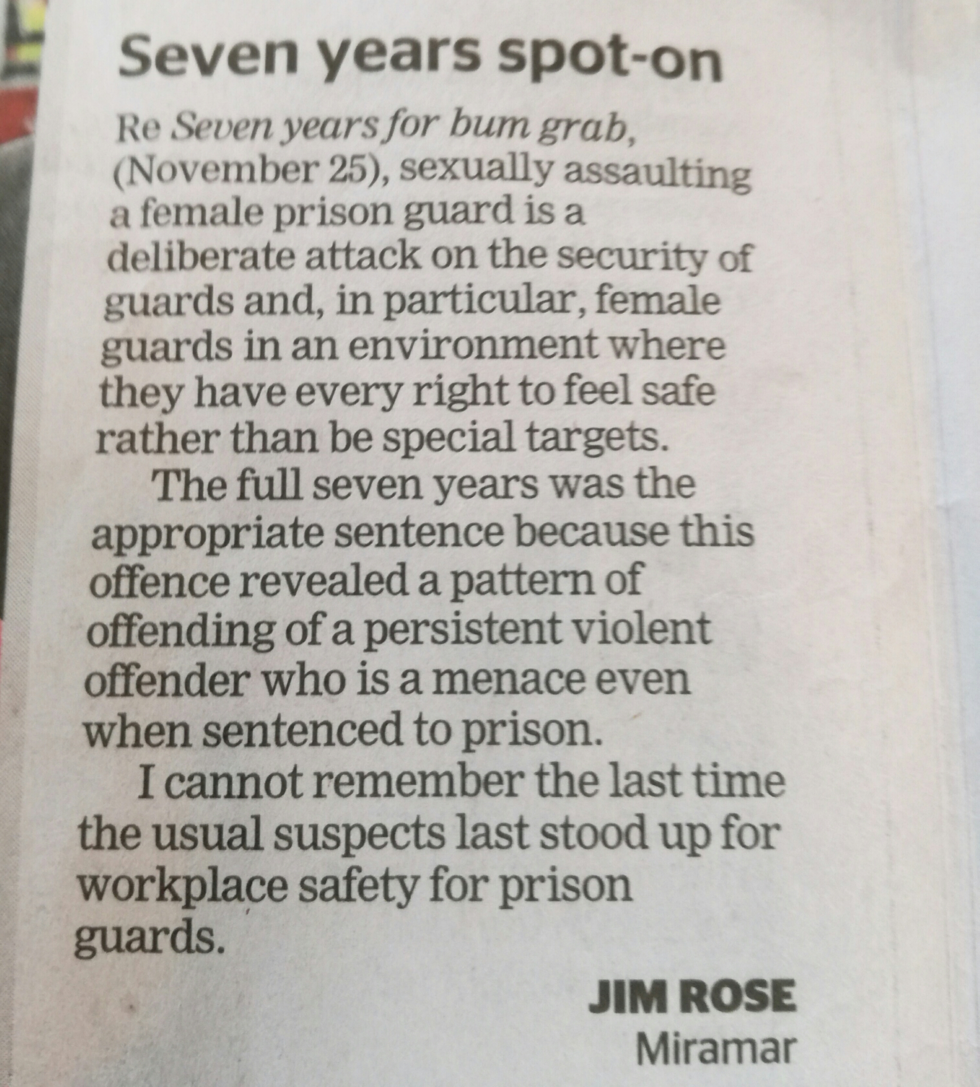 My letter to @dompost on three strikes