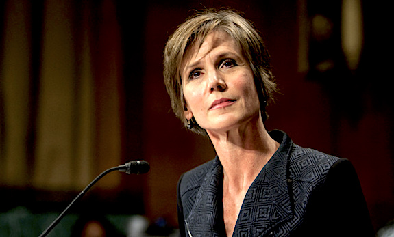 Sally Yates, during her confirmation hearing before the Senate Judiciary Committee to be Deputy Attorney General at the U.S. Department of Justice. March 24, 2015. Photo by Diego M. Radzinschi/THE NATIONAL LAW JOURNAL.
