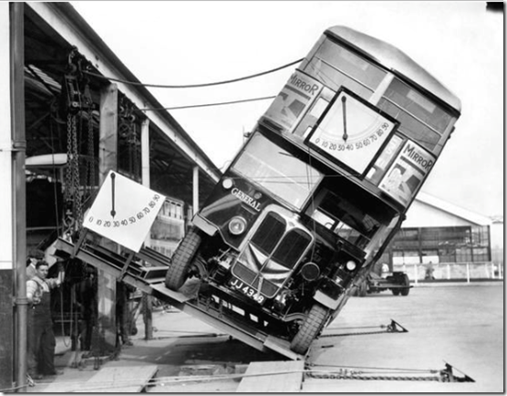 London's Double-decker buses were not a tipping hazard,1933