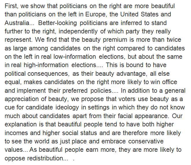 The beauty premium leansright