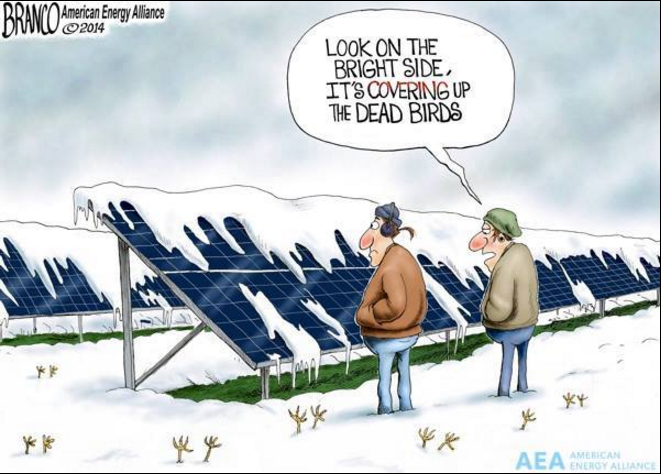 Just how efficient is solar energy in snow prone regions?