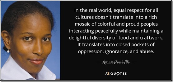 Speaking of the superiority of Westernvalues