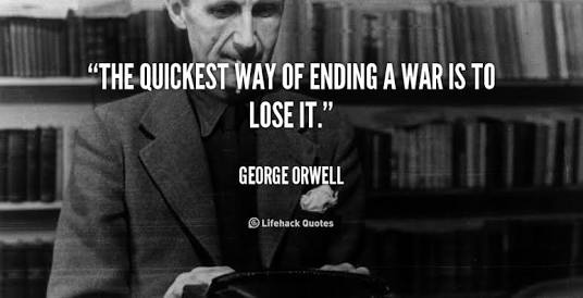 Orwell on @JeremyCorbyn's approach to peace through diplomacy
