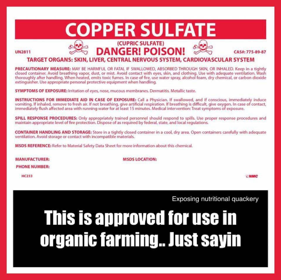 Organic farming isn't pesticidefree