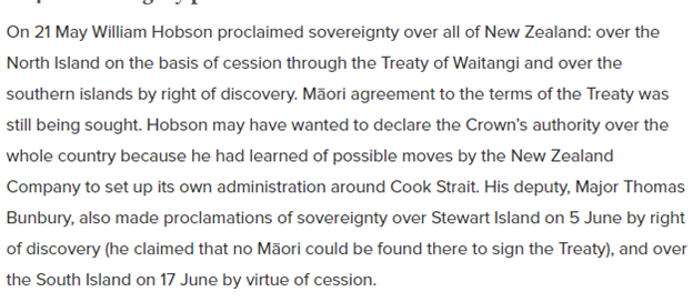 1840 proclamation of sovereignty over New Zealand