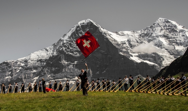 Swiss identity under threat? Artists from yodellers to rappers jumped to defend the TV licence