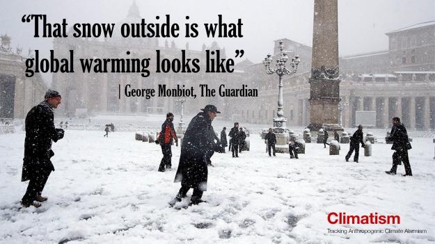 CLIMATISM - GEORGE MONBIOT - vatican-snow