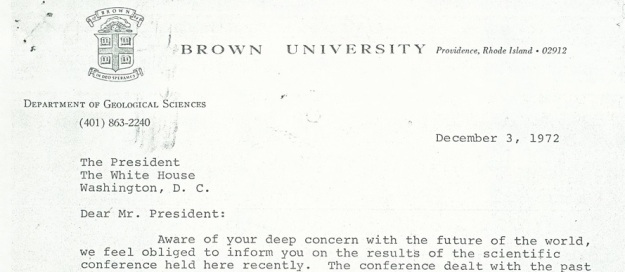 Letter from Kukla and Matthews to the President of the United States, 3 December, 1972
