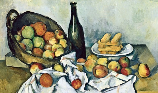 Cezanne nothing is natural fruit and vegetables painting still life